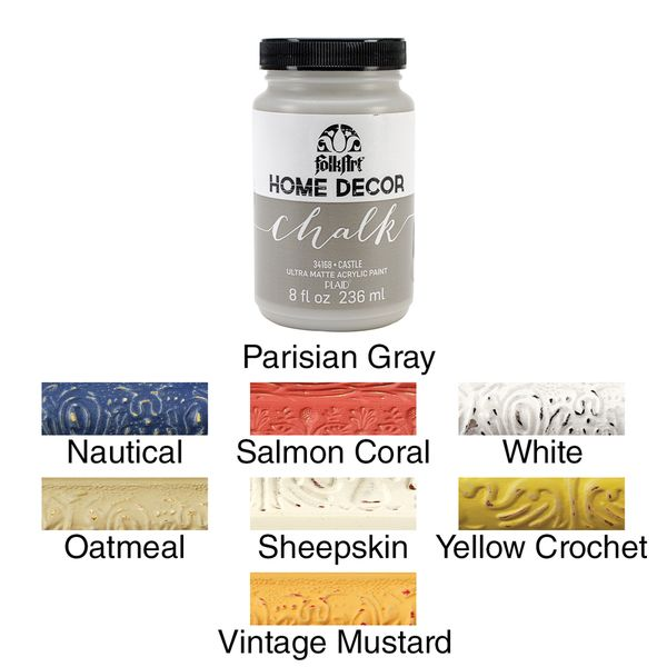 FolkArt Home Decor Chalk Paint 8oz Parisians Chalk paint and