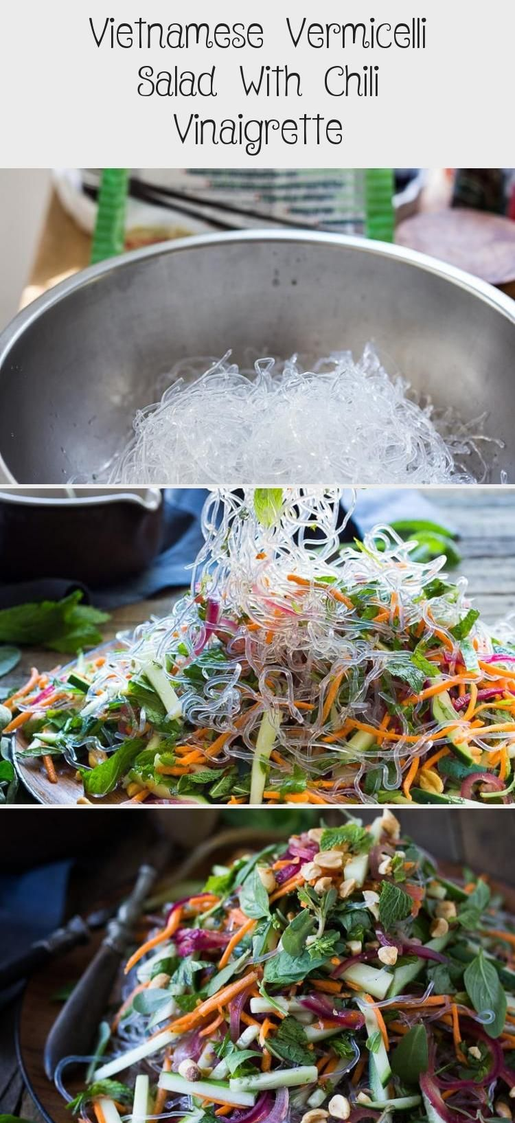 An incredible recipe for Vietnamese Vermicelli Salad w/ Sweet Chili Vinaigrette & Roasted peanuts - bursting with flavor and healthy and light! | www.feastingathome.com #Thaisalad #Kalesalad #saladBuah #Gardensalad #Chickpeasalad