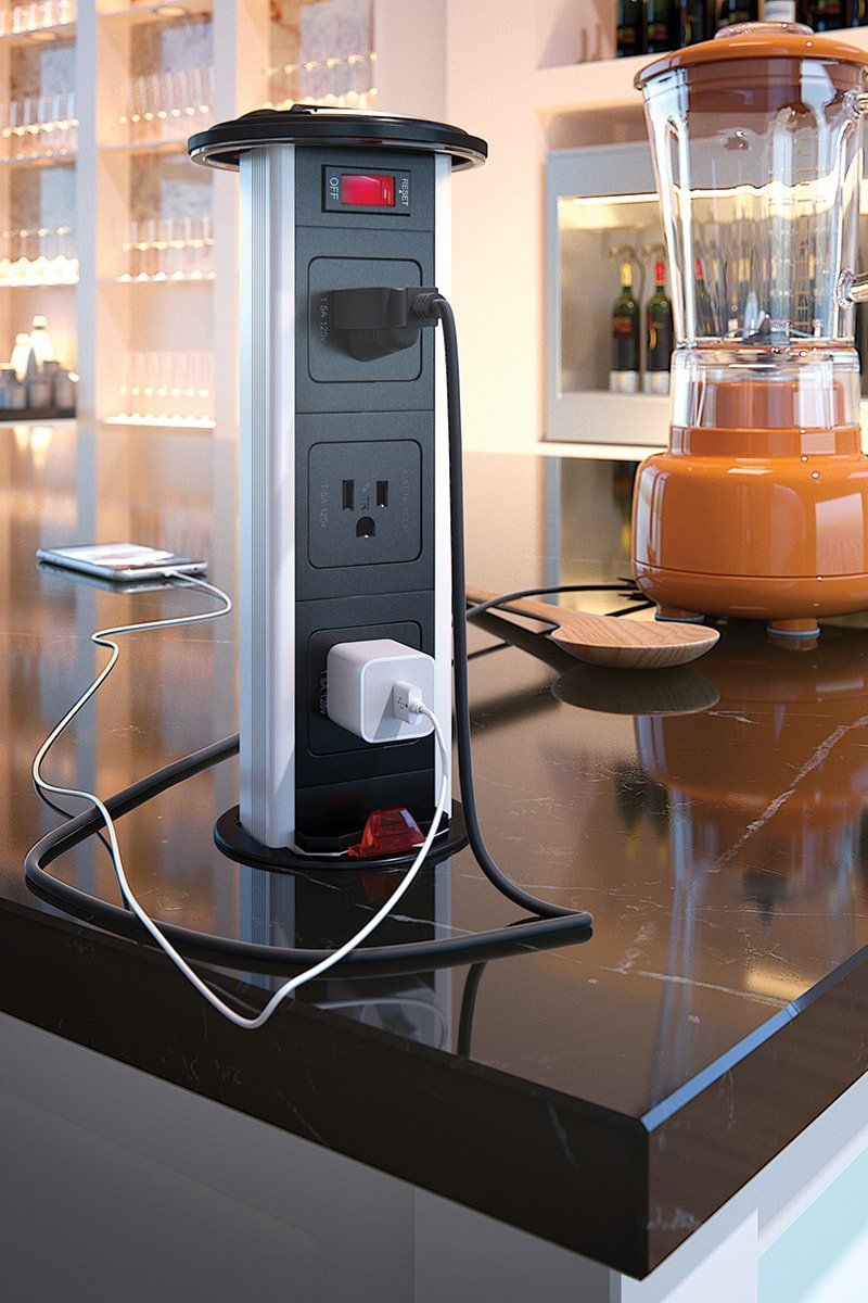Kitchen Power Grommet Countertop Outlets Tamper Resistant in ...