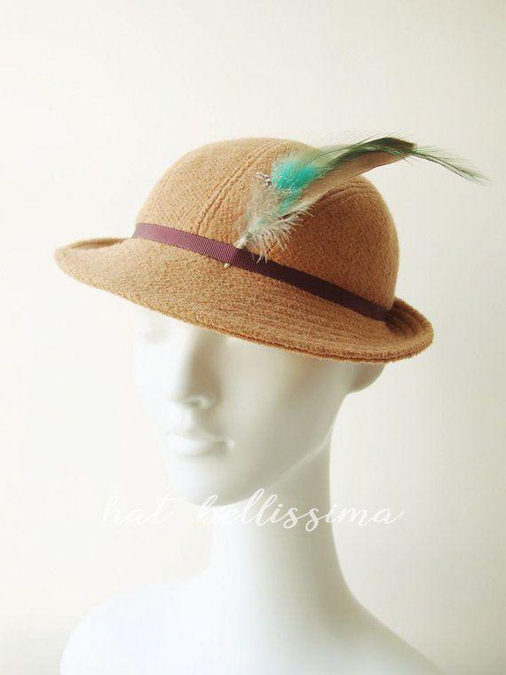 SALE Khaki 1930 s Hat Vintage Style hat winter Hats hatbellissima ladies  hats millinery wool hats ef9b944ab84