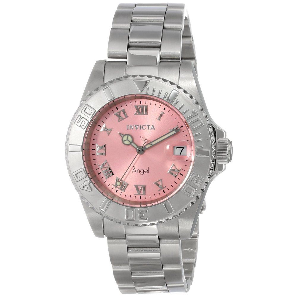 invicta womenu0027s pink dial stainless steel watch shopping