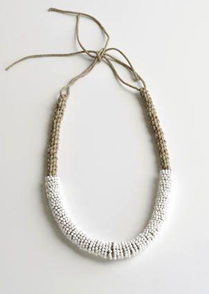 Kwasibita by Chequita Nahar, 2010 necklace - porcelain, string