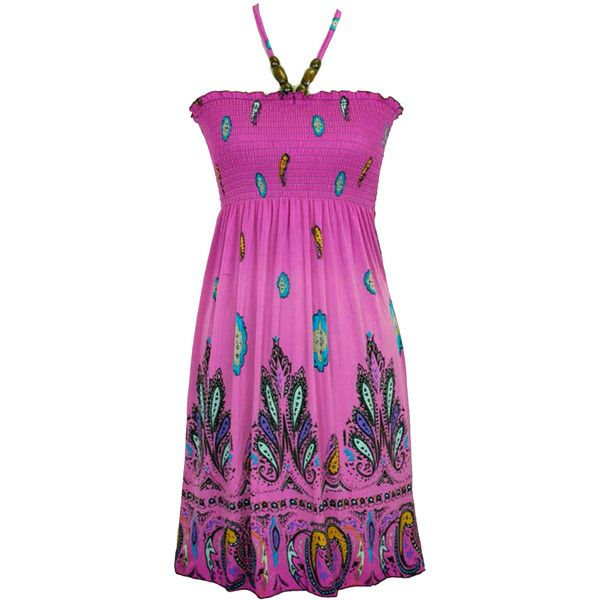 Jon & Anna Pink & Purple Paisley Print Wood Beaded Dress ($20 ...