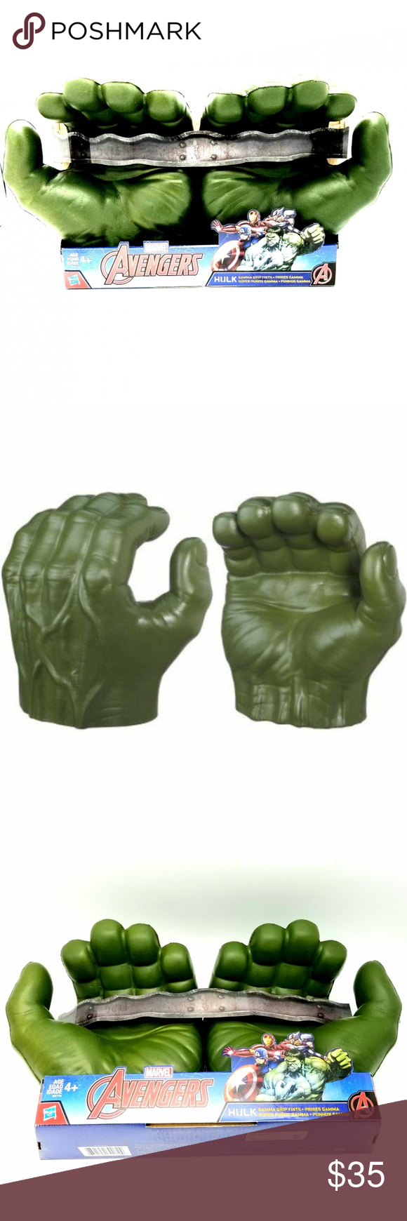 Incredible Hulk Hands Gloves Marvel Avengers Gamma Grip Fists Smash Costume Toy