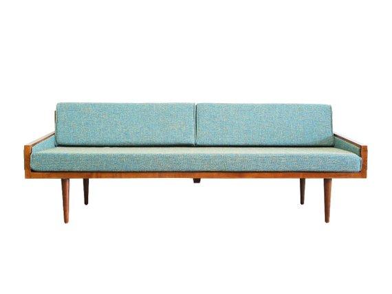 Mid Century Modern Daybed Casara Modern Executive Sofa Daybed Etsy Mid Century Modern Daybed Modern Daybed Mid