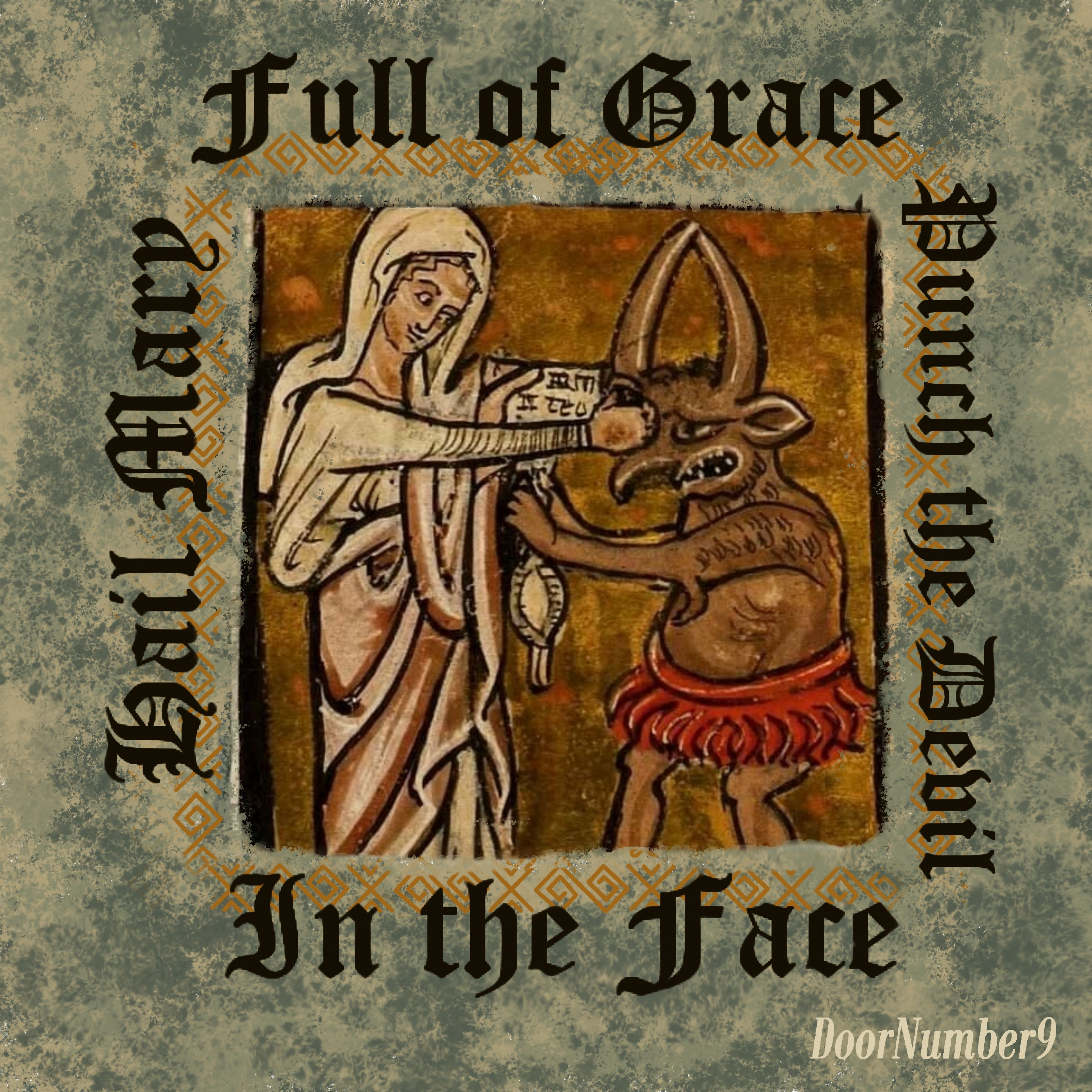"""""""Hail Mary, Full of Grace, Punch the Devil in the face"""" magnets"""