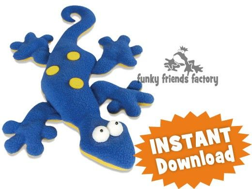 Gertie the Gecko HEAT PACK Sewing Pattern INSTANT DOWNLOAD | KCMQG ...