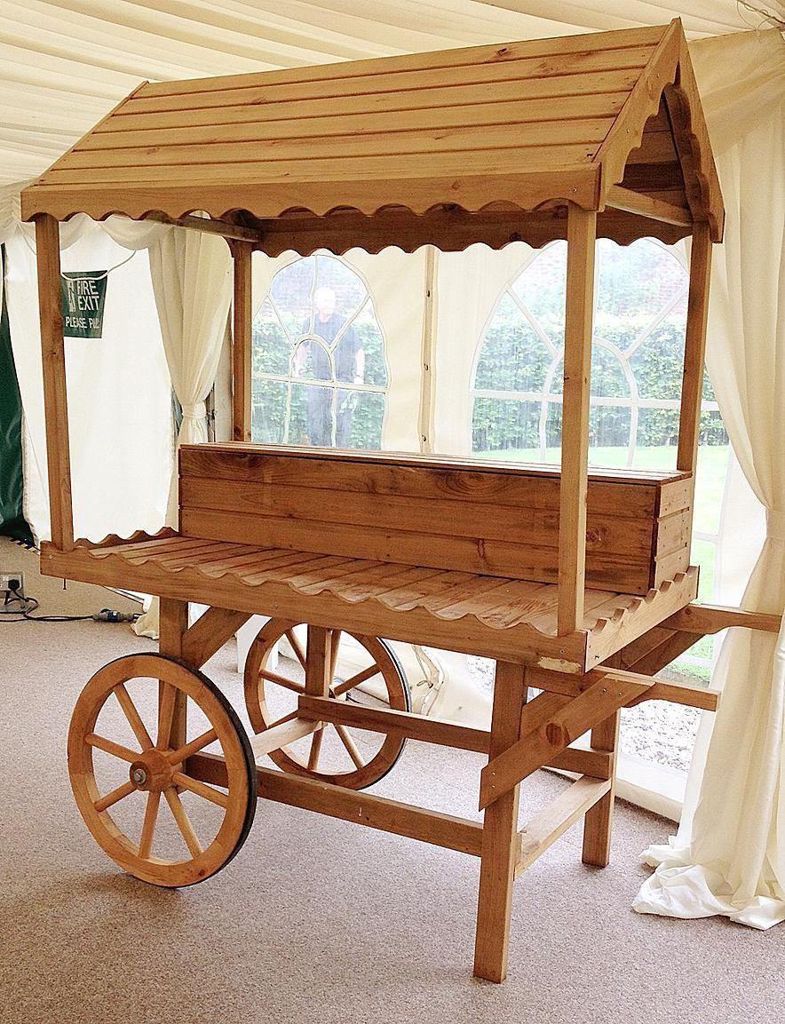 Cheap Candy Cart Hire Leicester Candy cart, Wooden cart