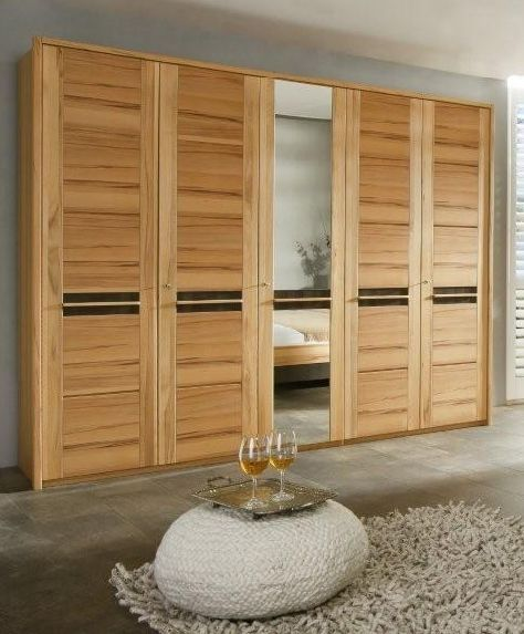 monte kleiderschrank kernbuche ge lt gewachst applikation nussbaum 5 t rig das. Black Bedroom Furniture Sets. Home Design Ideas