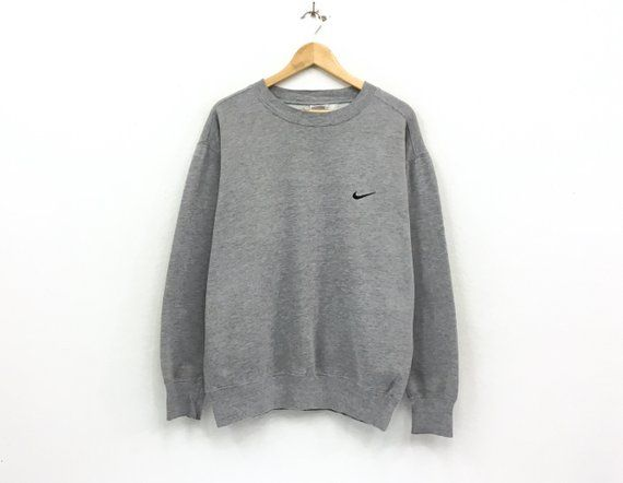 eac157d727124 Vintage Nike Crewneck Sweatshirt Jumper Embroidery Small Swoosh Logo ...