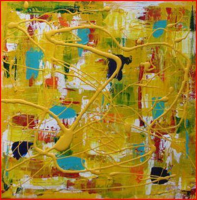 Four Seasons Series, Summer, Acrylic on canvas, 10 X 10, 2011