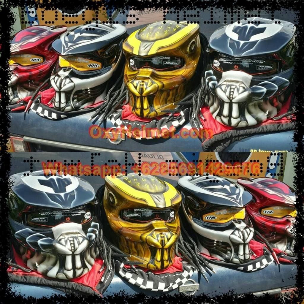 Predator Helmet Ece In 2020 Predator Helmet Bike Helmet New Helmet
