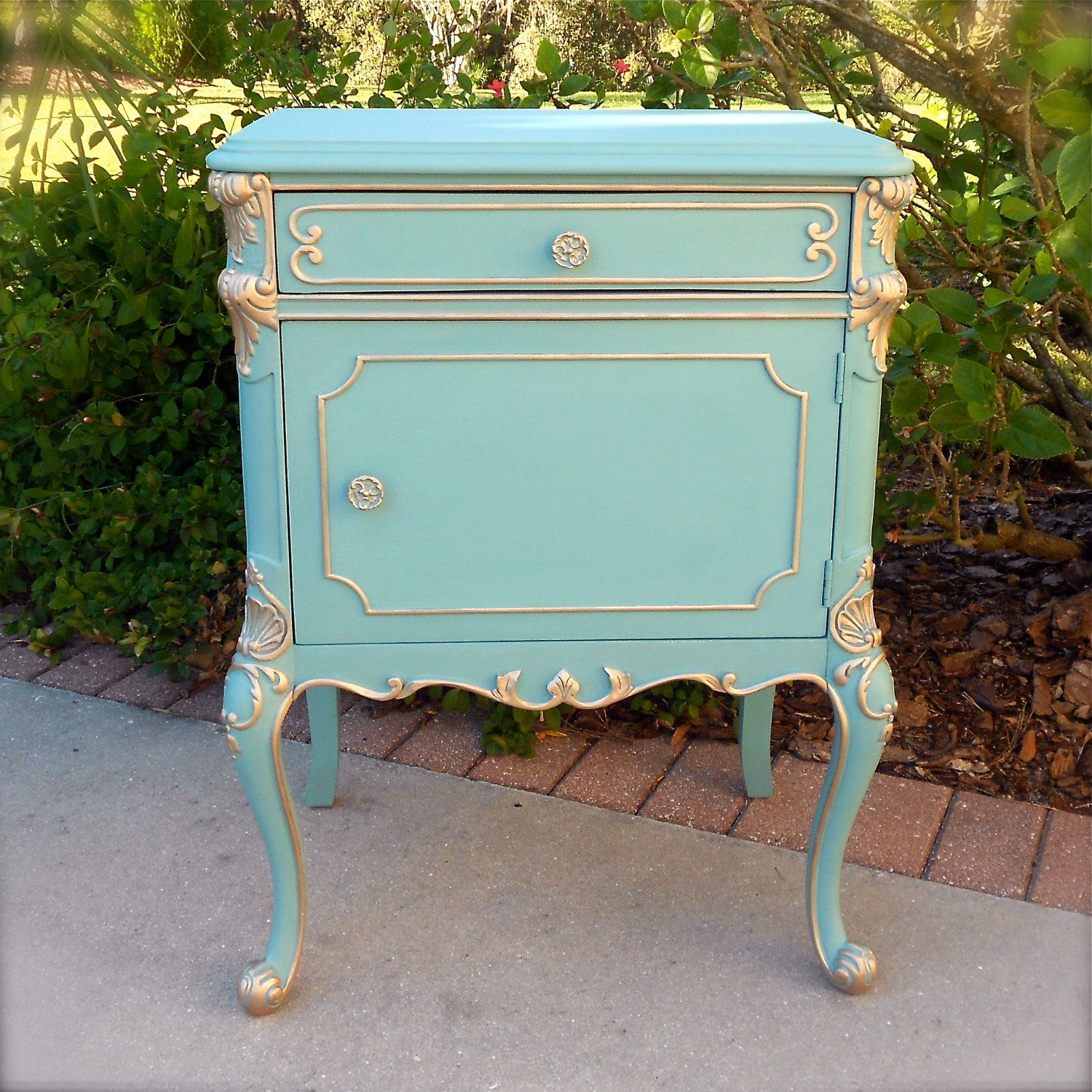 Oh So Provence Antique French Provincial Chic Nightstand Bedside End ...