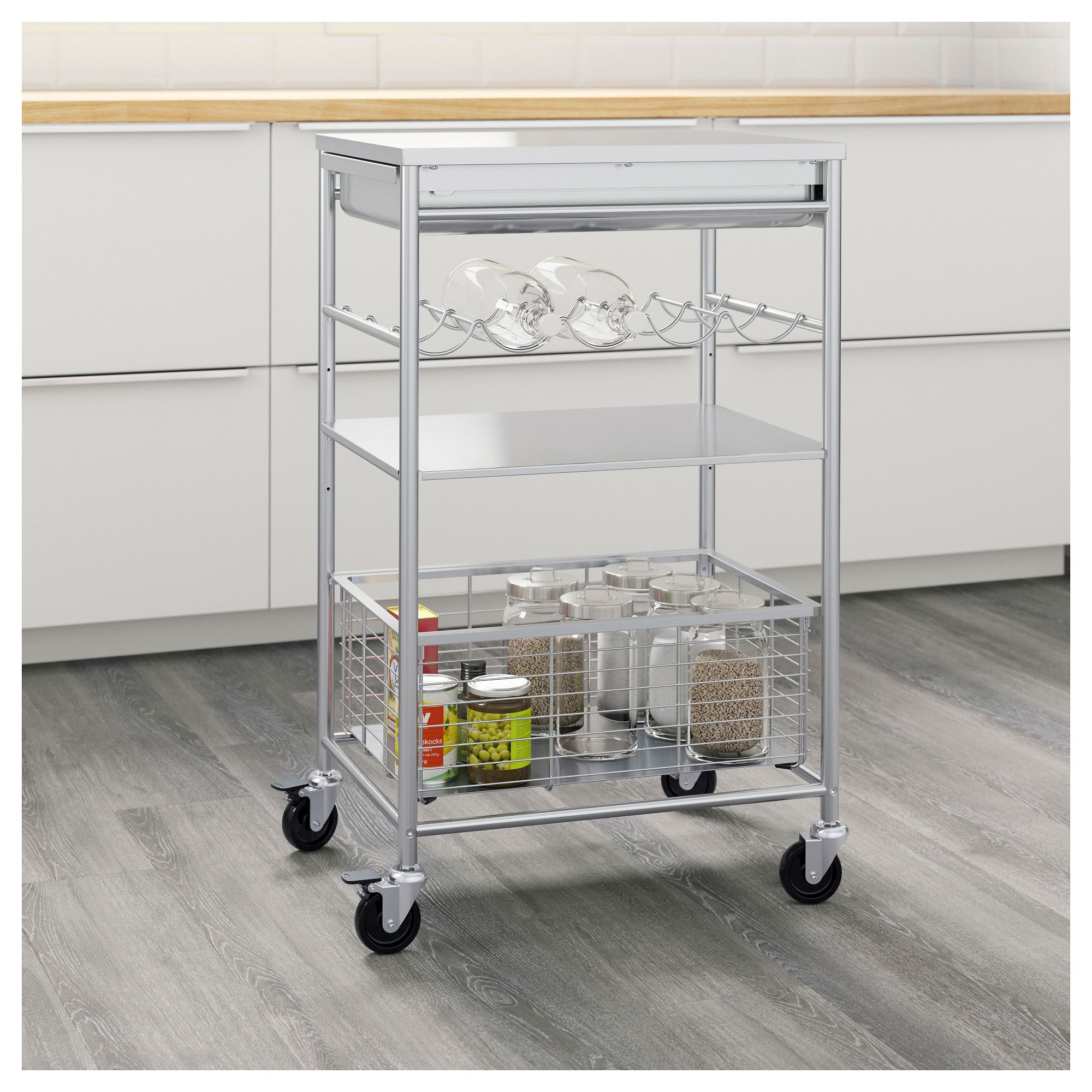 Ikea Küche Grundtal Ikea Grundtal Kitchen Cart Gives You Extra Storage In Your