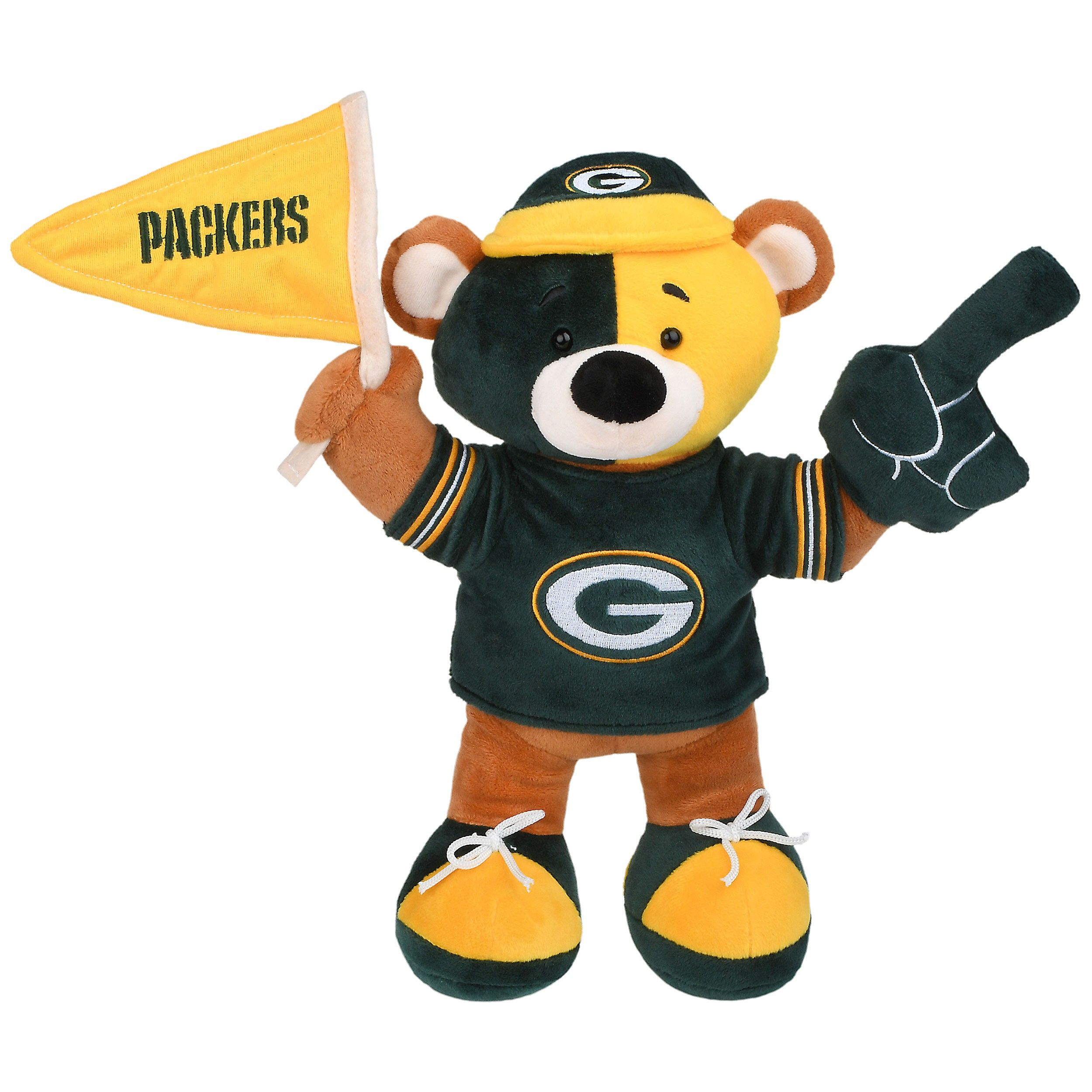 Green Bay Packers Plush Fan Bear Green Bay Packers Green Bay Bear Plush