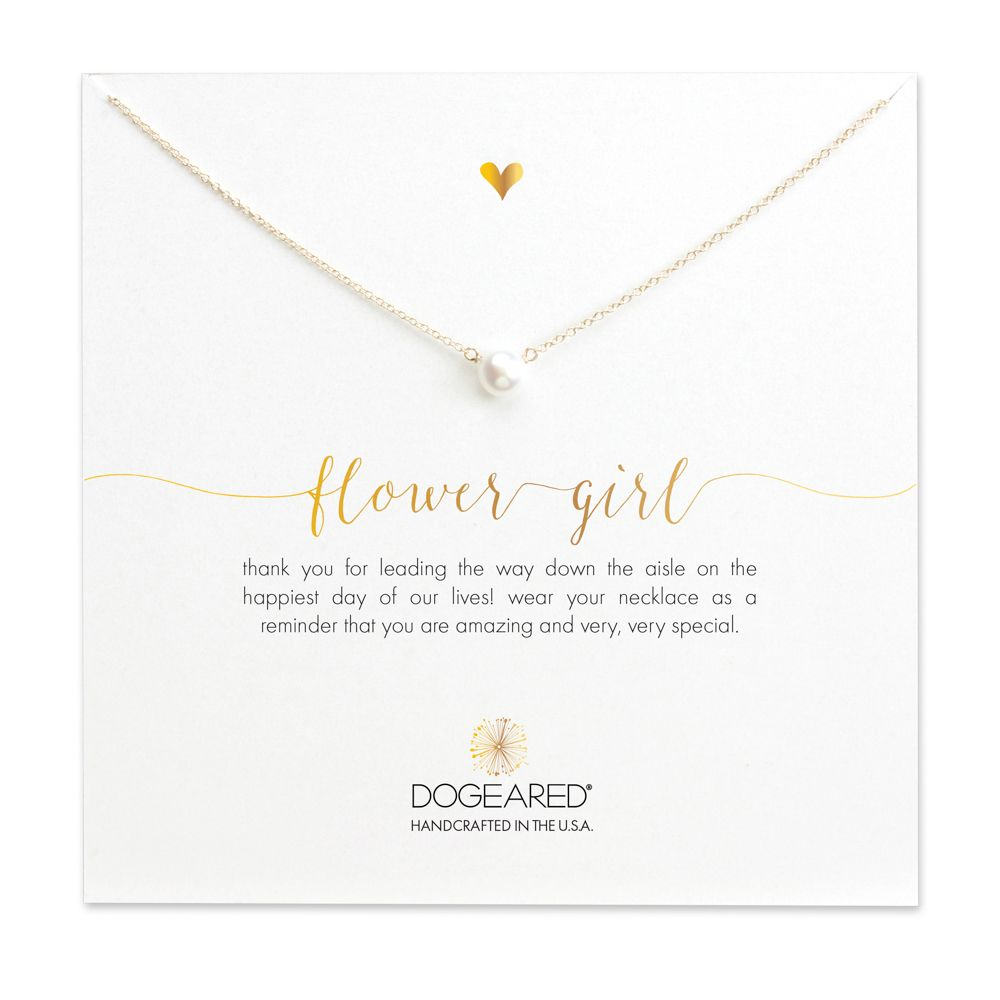 Flower Small Pearl Necklace Gold Dipped