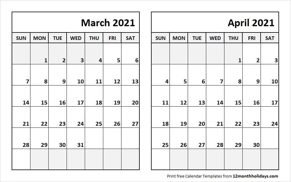 February And March 2021 Calendar 2021 February March April Calendar Template | Calendar template