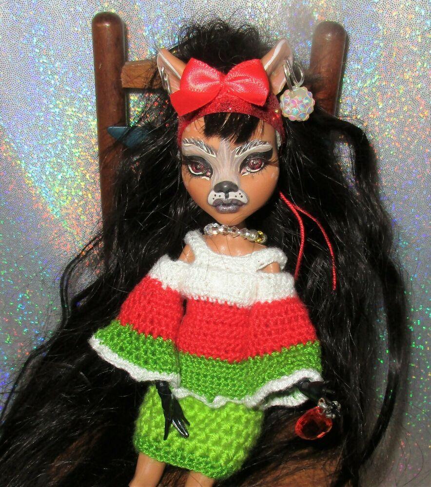 Holiday Deer Monster High OOAK Doll Remake Custom long
