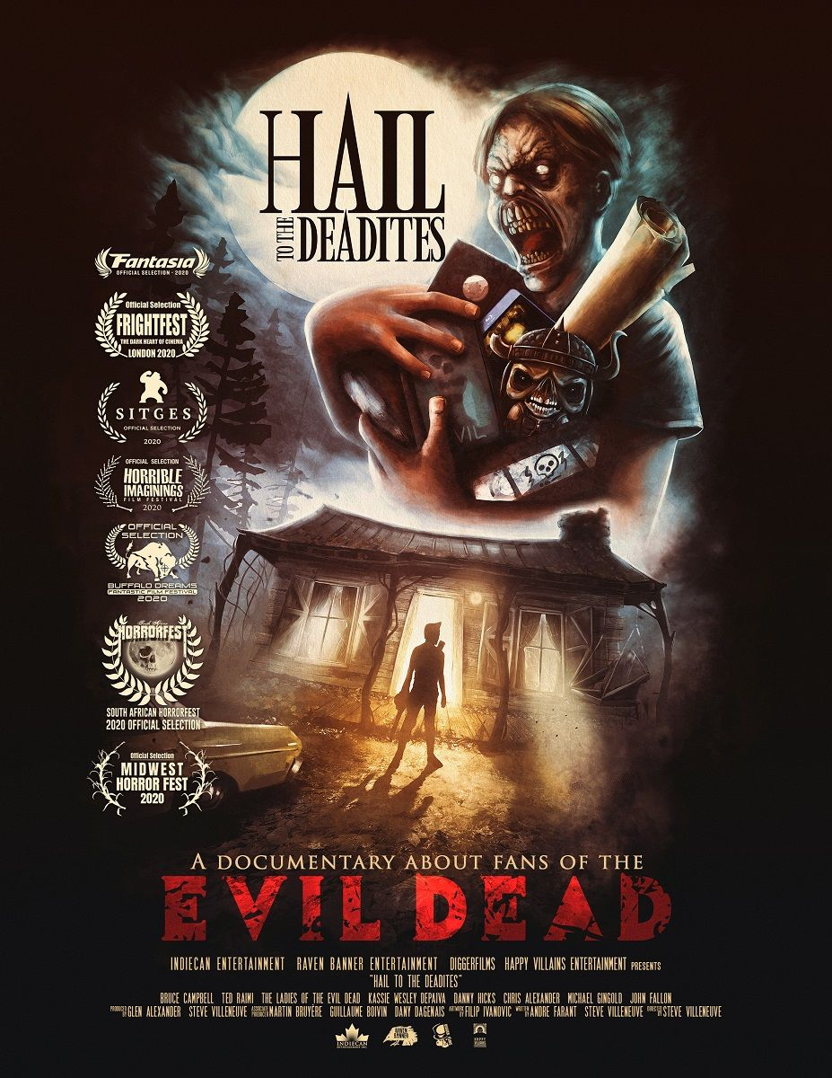 Hail To The Deadites An Ode To Evil Dead Ash Movie Fans Documentaries Horror Movie Posters Documentary Movies