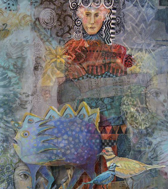 Blue Fish Digital collage of some of my art work