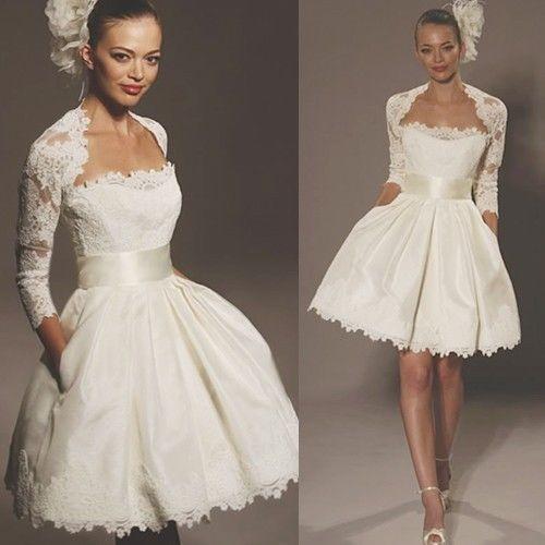 la-falda-de-la-chaqueta-Blanco-marfil-vestido-de-novia-de-la-boda ...