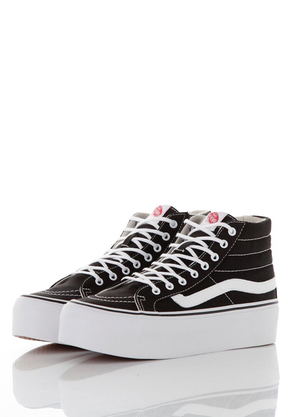 scarpe vans nere donna alte
