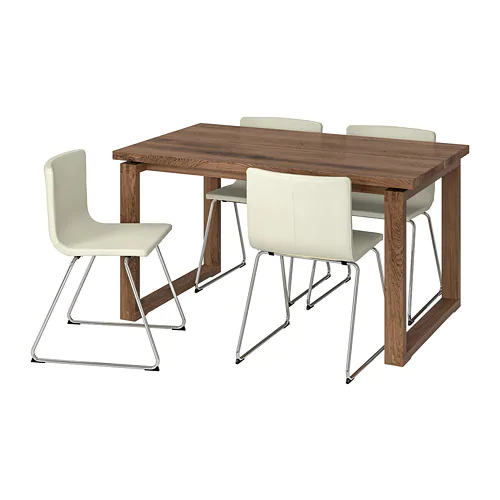 Morbylanga Bernhard Table And 4 Chairs Brown Mjuk White Ikea Ikea Cool Chairs Chair