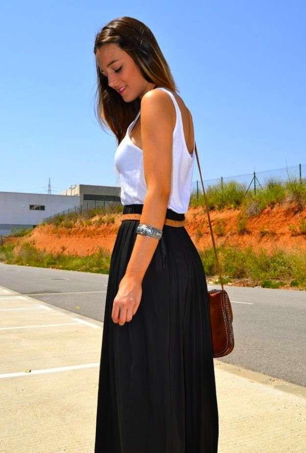 6c31e7110 Cómo combinar las faldas largas en primavera: Fotos de los modelos ...