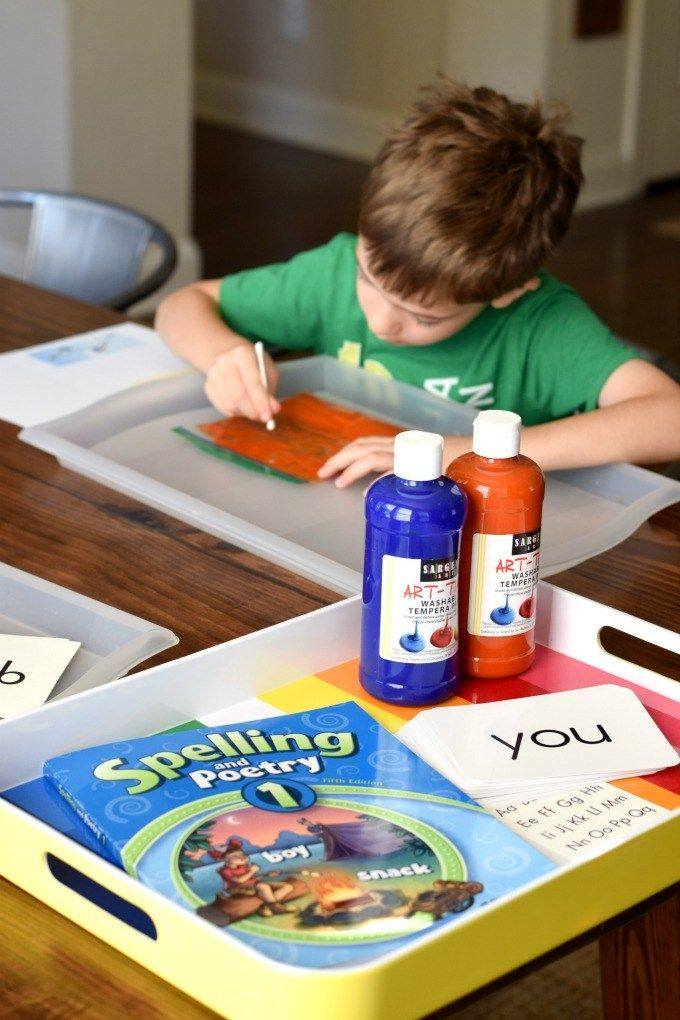 Paint Bags Writing, Spelling, & More! Painted bags