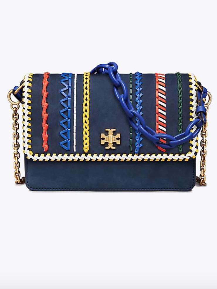 3a01410d8d926 Tory Burch Kira Whipstitch Double-Strap Shoulder Bag
