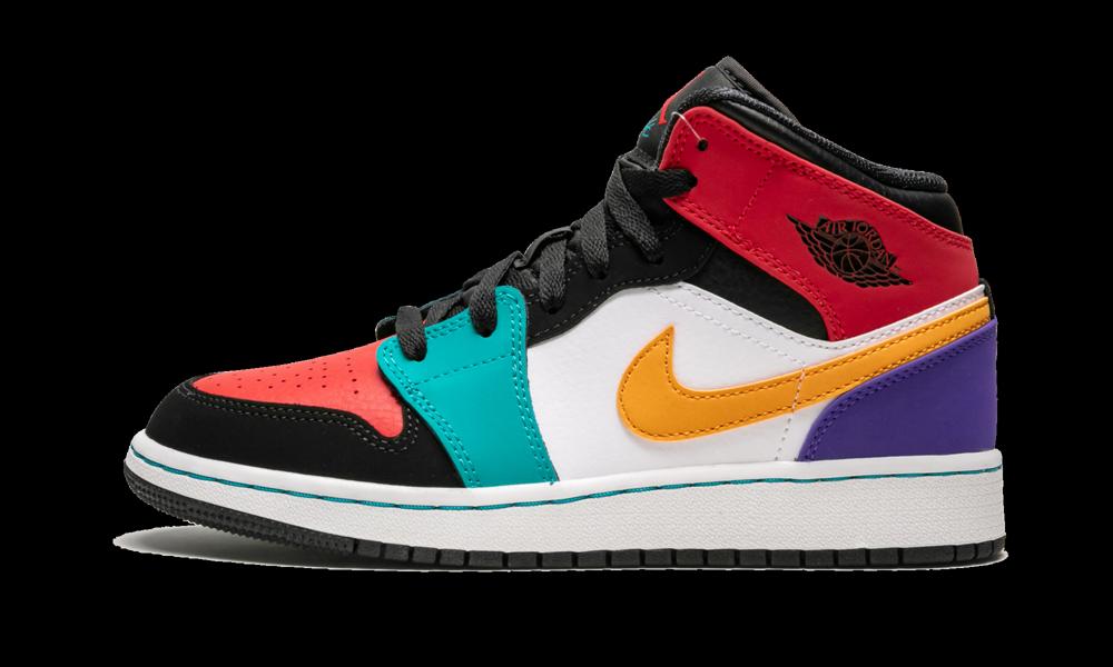 "Air Jordan 1 Mid (GS) ""Multicolor"" 554725 125 in 2020"