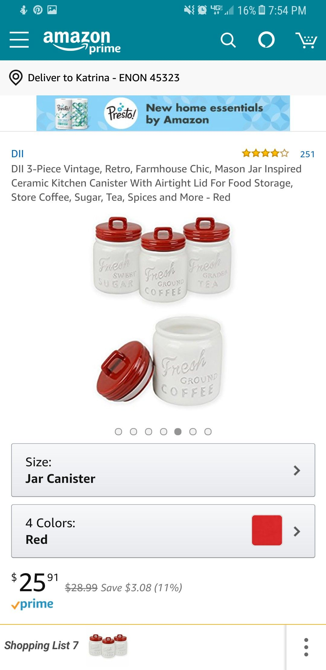 Amazon Kitchen Essentials: Ceramic Kitchen Canisters Image By Katrina Frew On Yellow