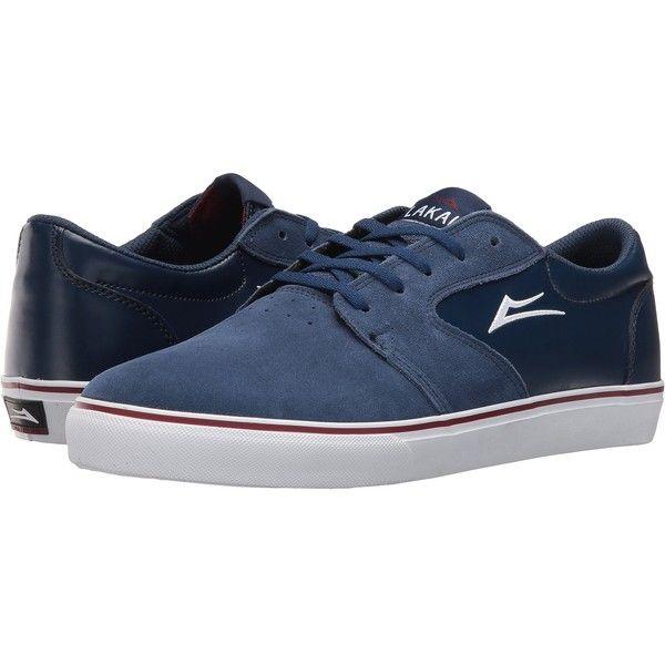 Lakai Fura (Navy/White Suede) Men's Skate Shoes (£25) ❤ liked on Polyvore  featuring men's fashion, men's shoes, navy, mens white suede shoes, mens  navy ...