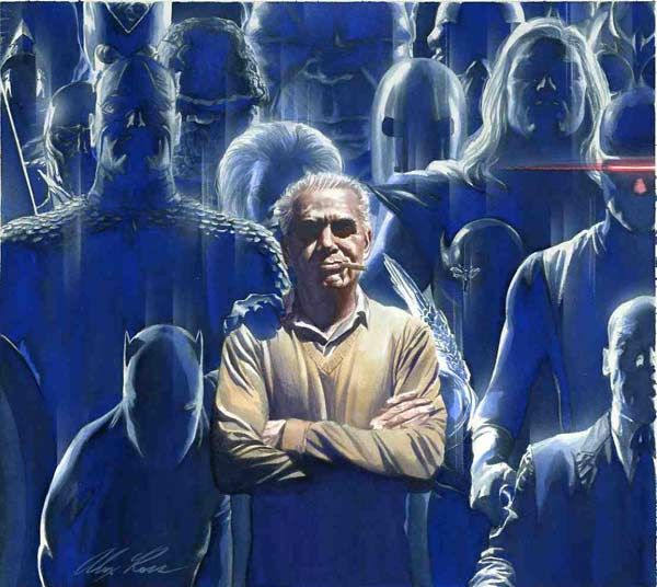 The legendary Jack Kirby and his creations, by the almost equally legendary Alex Ross.