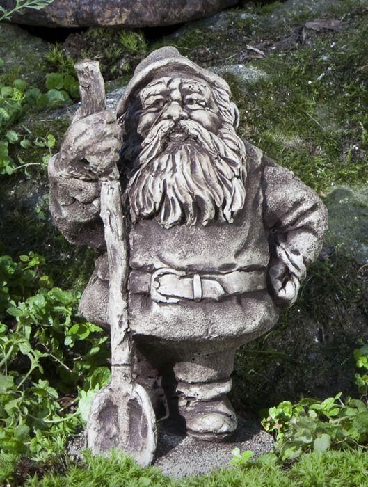 Gnome Garden: Muggwiggen, Gnome With Shovel Garden Statue