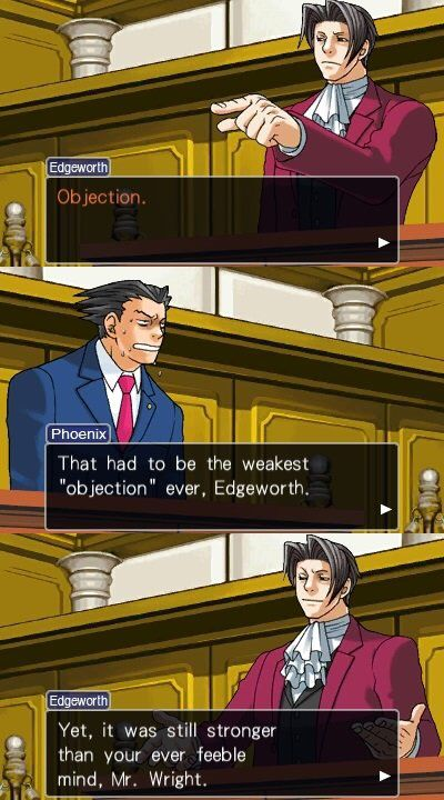 Weak Objection Phoenix Wright Wright Ace