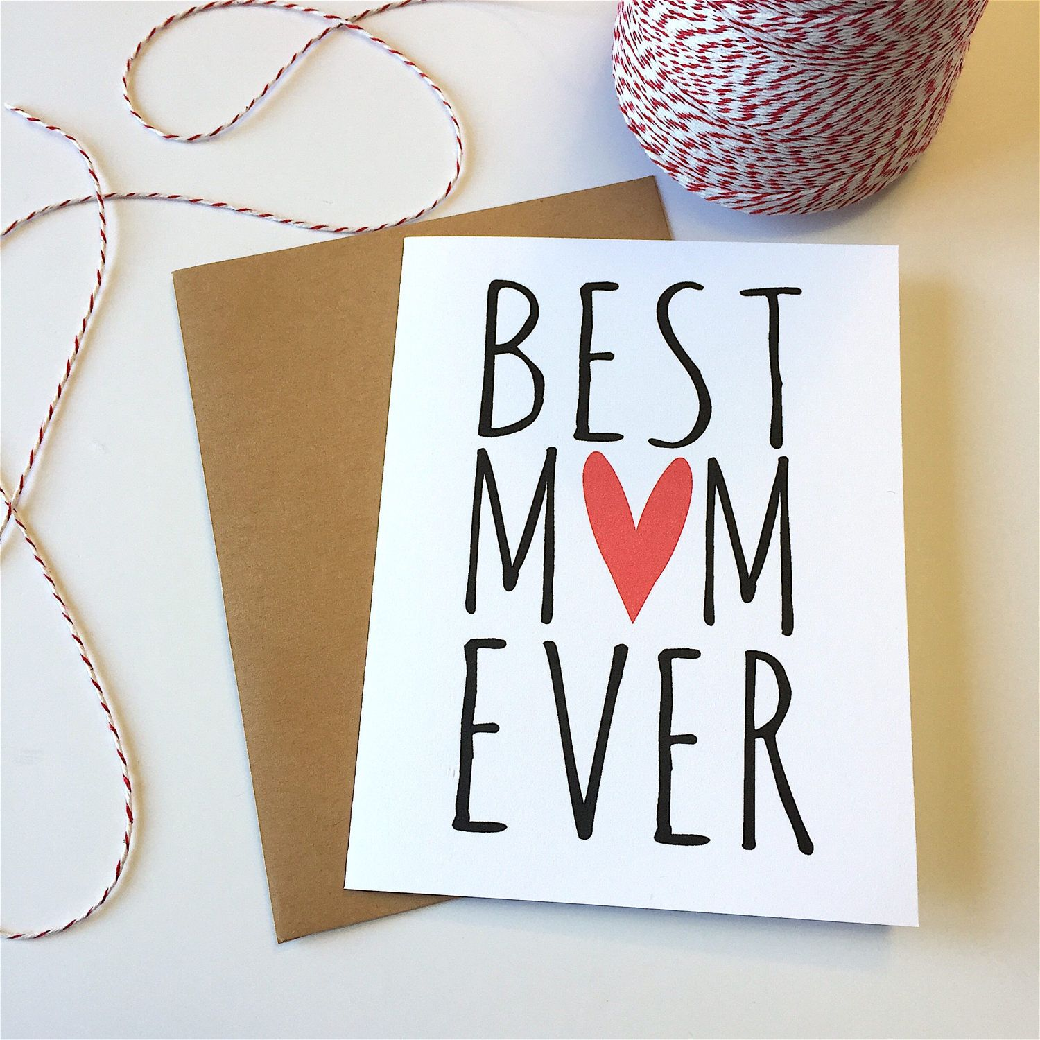 Best mom ever card best mom card mothers day card wife