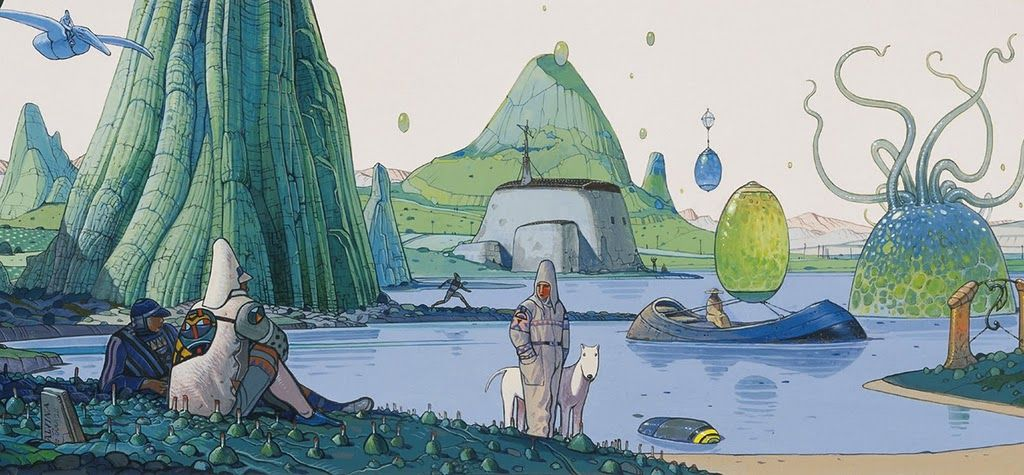 I dream about another life, space, planet. If I could, I'd live in Moebius' world.