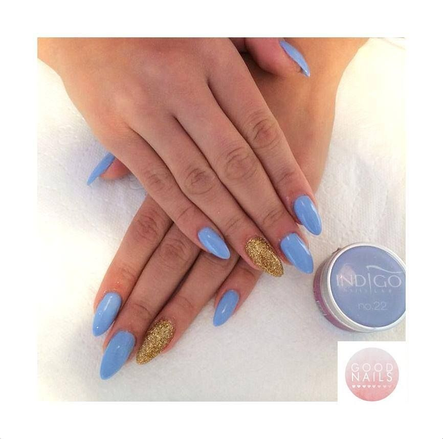 by Good Nails Kraków Find more Inspiration at www.indigo-nails.com #nails #pastel #mani #blue