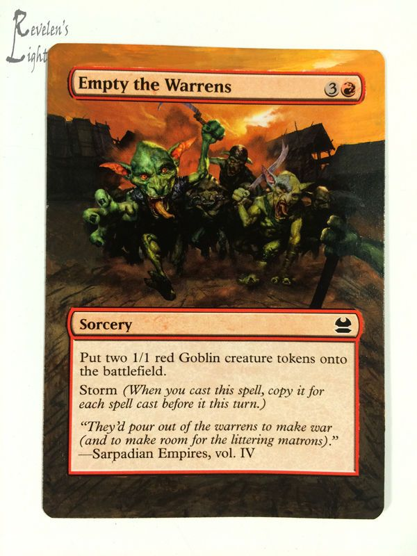 Empty the Warrens - Full Art MTG Alter - Revelen's Light Altered Art Magic Card