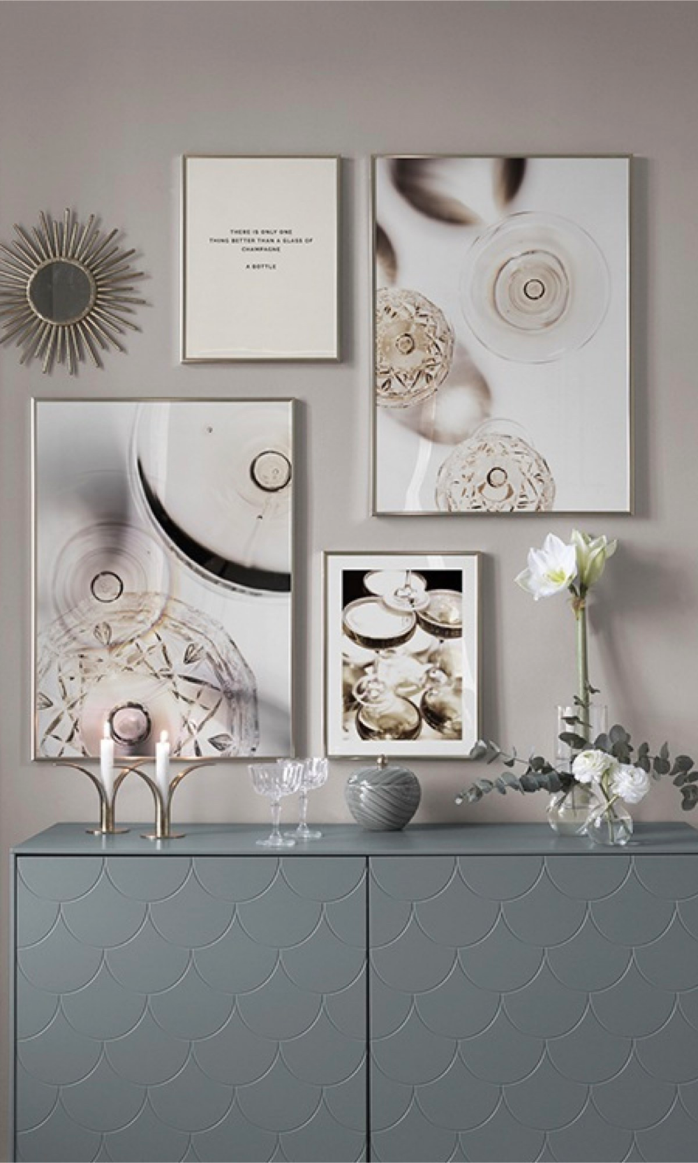 Deco Salon Mur Blanc créer votre mur de cadres avec desenio | idee deco salon
