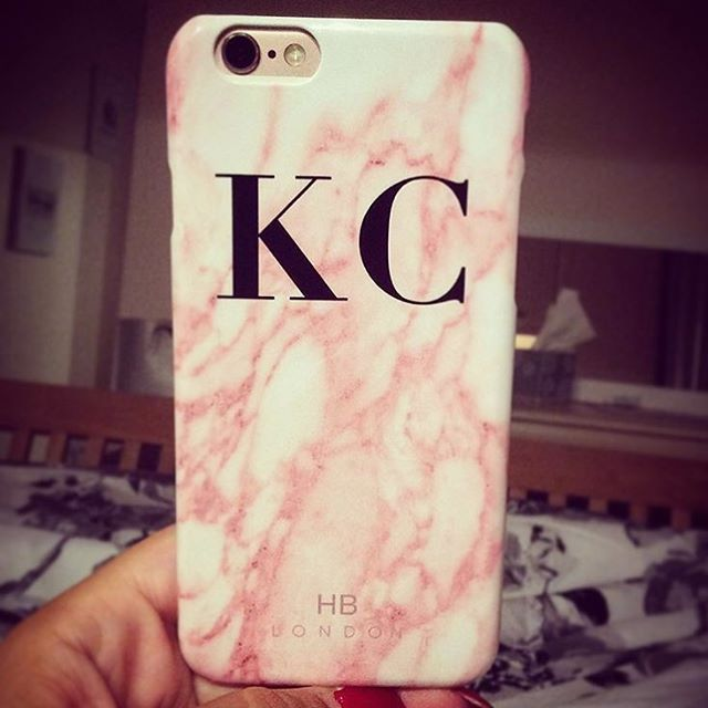 reputable site fe5a0 af9da Customer Image - Pink Marble Initial Phone Case - www.hblondon.uk ...