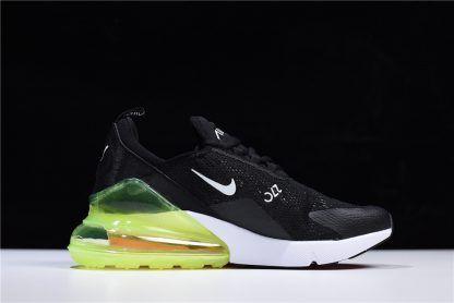 140c4e4eaf56 2018 Nike Air Max 270 Lace Mesh Black Green White AH6789-018-1 ...
