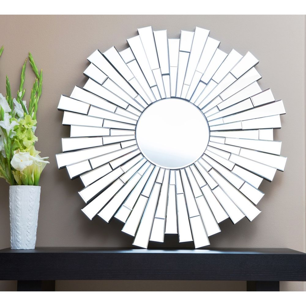 Abbyson living empire round wall mirror overstock home abbyson living empire round wall mirror overstock amipublicfo Choice Image