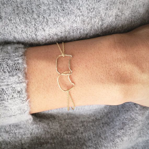 29 purr fect products for your inner cat lady bracelets bling bling and gold