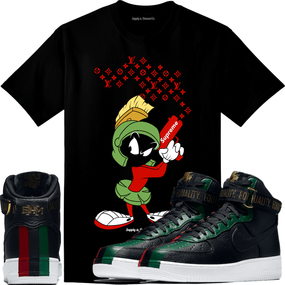 Air Force Ones 2018 BHM Sneaker Tee Shirt to match made by