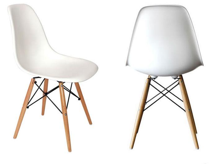 Eames DSW White Plastic Chair - Wooden Legs | Dream home ...