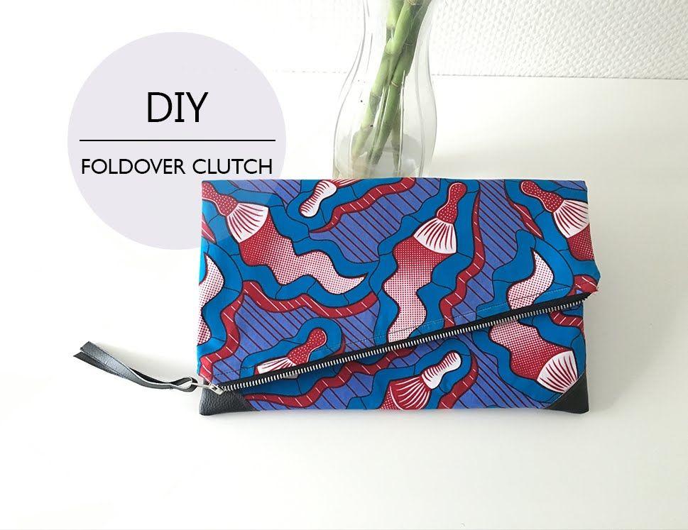 Diy Foldover Clutch Diy Pochette Pliable Diy Diy Clutch
