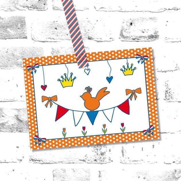 Postkaart Koningsdag #feest #hoera #gefeliciteerd #Koningsdag #Koning