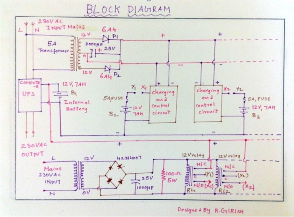 Ups Wiring Diagrams Block Wiring Diagram - Schematic Diagram Ups Ica